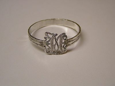 Napkin Ring with a ( Initial (  M ) Sterling Silver