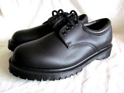 Dr Martens Industrial SAFETY WORK SHOES BLACK SIZE 8 4 Hole Eye. Brand New CHEAP