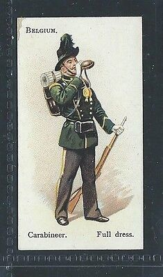 Bat British American Tobacco Soldiers Of The World Leaf Back Belgium Carabineer