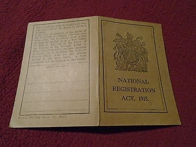 WWI National Registration Act 1915 ID Card Issued in Croydon (Kate Turk)