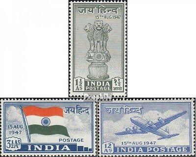India 183-185 (complete.issue.) with hinge 1947 Independence