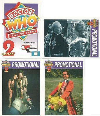 Dr Doctor Who Cornerstone Series 2 Lot of 4 Promo Trading Cards from 1995