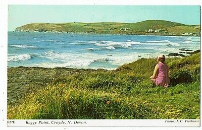 Post Card Color Photo Baggy Point, Croyde, N. Devon