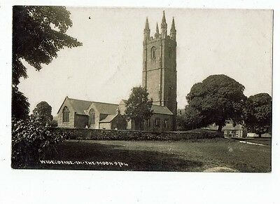 Devon Post Card Real Photo Widecombe-In-The-Moor 9764