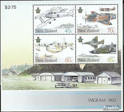 New Zealand block10 (complete.issue.) fine used / cancelled 1987 Aircraft