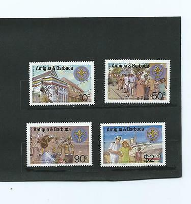 Antigua & Barbuda 1982 Set of 4 MNH Stamps for Year of The Scout
