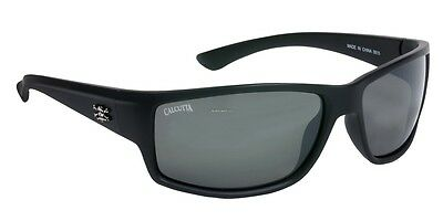 New Polarized Calcutta Rip Sunglasses Matte Black Frame Silver Mirror Lens R1SM