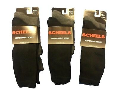 6 Pairs Scheels #1847  Perfomance Socks Large    $60 Value