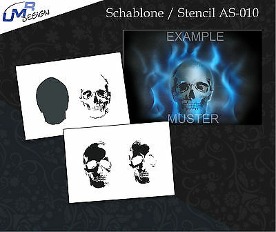 Step by Step Airbrush Stencil AS-010 M ~ Template ~ UMR-Design