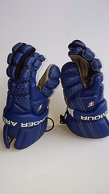 Under Armour Youth SS Lacrosse gloves Royal Blue Sz Medium M euc