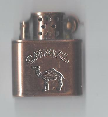 Vintage Brass Color Lighter w/ Camel Design on the front, Sparks Well, Works!!