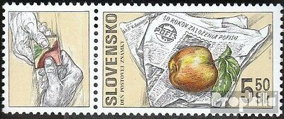 Slovakia 383Zf with zierfeld (complete.issue.) unmounted mint / never hinged 200