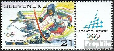 Slovakia 527Zf with zierfeld (complete.issue.) unmounted mint / never hinged 200