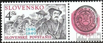 Slovakia 313Zf with zierfeld (complete.issue.) unmounted mint / never hinged 199