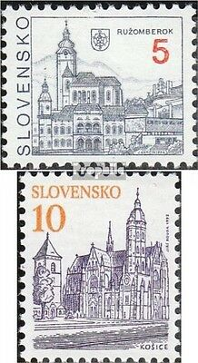 Slovakia 164-165 (complete.issue.) unmounted mint / never hinged 1993 Cities