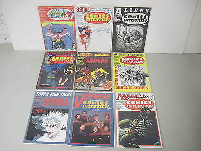 Lot Of 9 Comics Interview Magazines Includes #1 Also #83 Signed By Matt Wagner