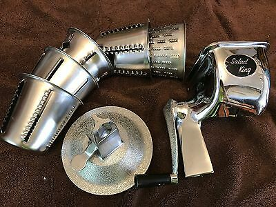 Salad King Kutter Grater, Restaurant Quality, Stainless Steel, 5 Cones, Fast!