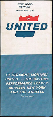 United Airlines Us Aviation Timetable 1963