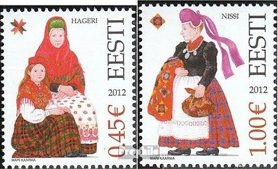 Estonia 729-730 (complete.issue.) unmounted mint / never hinged 2012 Costumes