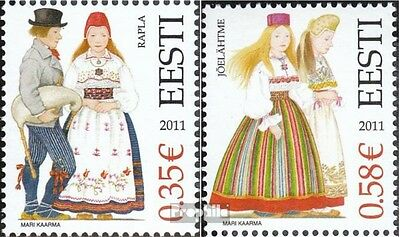 Estonia 691-692 (complete.issue.) unmounted mint / never hinged 2011 Costumes