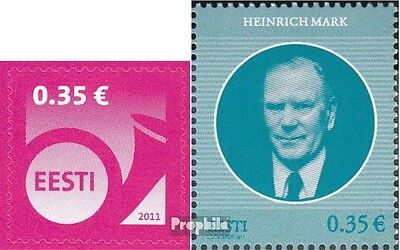 Estonia 707,708 (complete.issue.) unmounted mint / never hinged 2011 Horn, Mark