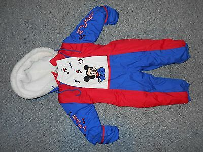 Disney Babies Vintage Late 80's Toddler 18 Months Mickey Mouse Snow Suit      B5