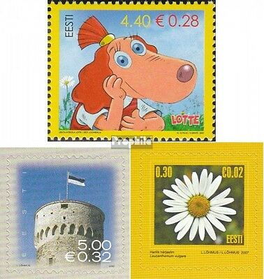 Estonia 572,573,574 (complete.issue.) unmounted mint / never hinged 2007 Cinema,