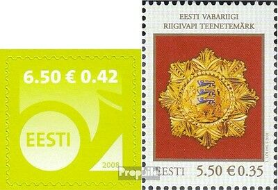 Estonia 606,608 (complete.issue.) unmounted mint / never hinged 2008 Horn, Order