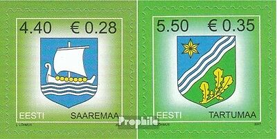 Estonia 575,590 (complete.issue.) unmounted mint / never hinged 2007 Crest