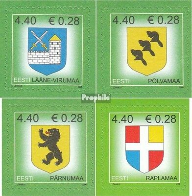 Estonia 541,543,545,565 (complete.issue.) unmounted mint / never hinged 2006 Cre
