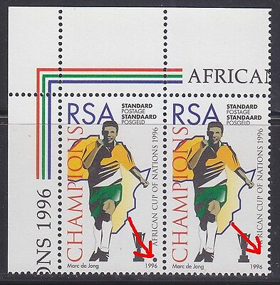 South Africa 1996 - Africa Cup Of Nations Champions - Missing Black Dot Variety