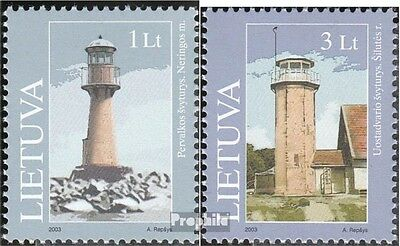 Lithuania 814-815 (complete.issue.) unmounted mint / never hinged 2003 Lighthous