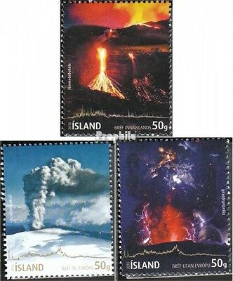 Iceland 1283-1285 (complete.issue.) unmounted mint / never hinged 2010 volcanic