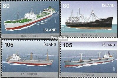 Iceland 1157E-1160E (complete.issue.) unmounted mint / never hinged 2007 Vessels