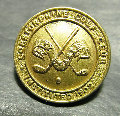 Medium Brass Button - Corstorphine Golf Club