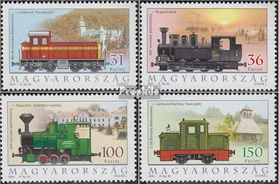 Hungary 4662-4665 (complete.issue.) unmounted mint / never hinged 2001 Locomotiv