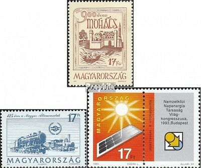 Hungary 4245,4246,4256Zf (complete.issue.) unmounted mint / never hinged 1993 Mo