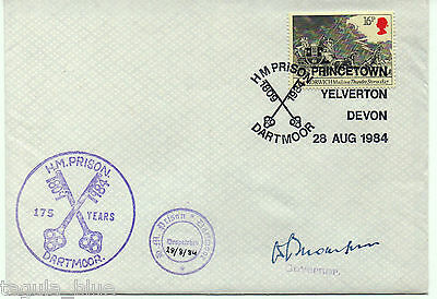 1984 H.M Prison Dartmoor official cover signed by Governor