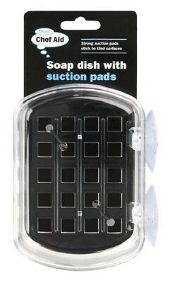 Chef Aid Kitchen Bathroom Soap Dish Holder With Suction Pads