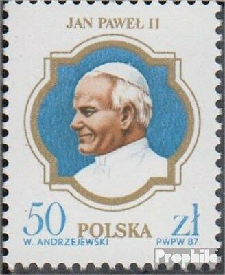 Poland 3101 (complete.issue.) unmounted mint / never hinged 1987 Pope