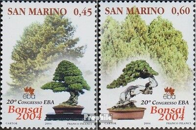 San Marino 2142-2143 (complete.issue.) unmounted mint / never hinged 2004 Bonsai