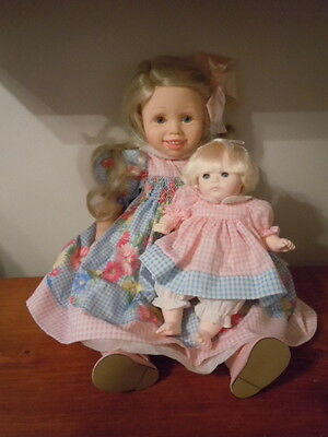 Pauline's Limited Edition Dolls Megan And Her Baby Doll Kristie 182/950 New