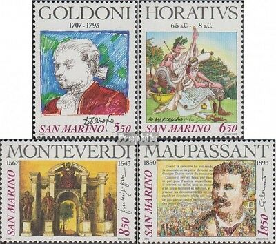 San Marino 1551-1554 (complete.issue.) unmounted mint / never hinged 1993 Poets