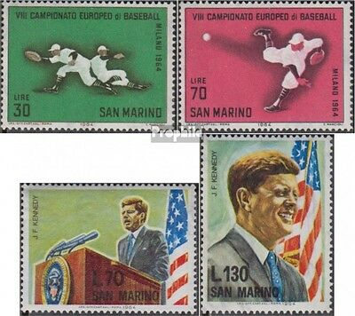San Marino 824-825,827-828 (complete.issue.) unmounted mint / never hinged 1964