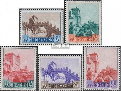 San Marino 530-534 (complete.issue.) unmounted mint / never hinged 1955 clear br