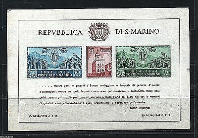 "San Marino Stamps 1945 ""Gov Palace"" sg MS308a imperf - U/M  Cat £375+"
