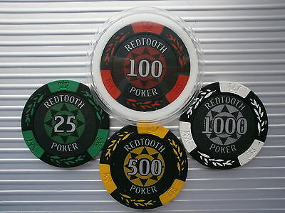 Redtooth Poker - Poker/casino Chips Choose 3 Chips Or 1 Card Protector