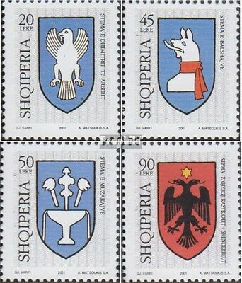 Albania 2835-2838 (complete.issue.) unmounted mint / never hinged 2001 Crest