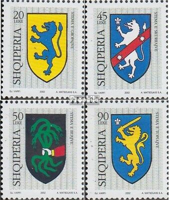 Albania 2870-2873 (complete.issue.) unmounted mint / never hinged 2002 Crest