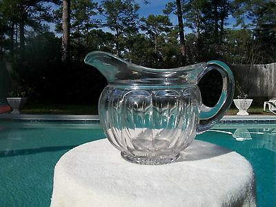 Heisey Glass Colonial Puritan Large Squat Jug Pitcher